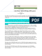 India Gazette_Oct 20, 2008_Investments in State Firms Initial Offerings Still in Green