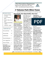 Silver Foxes Newsletter - January 2012 from the Takoma Park Recreation Department