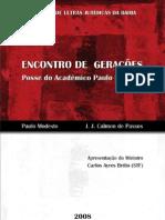 Livro - Paulo Modesto e Calmon de Passos - Encontro de Gerações - Discursos