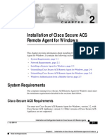 Installation of Cisco Secure Acs Remote Agent for Windows