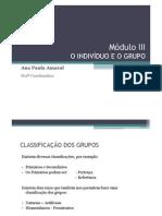 Módulo III - O INDIVÍDUO E O GRUPOx