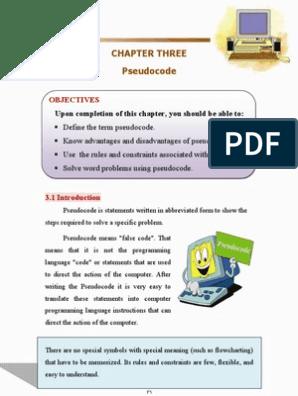 Pseudo Code PDF | Control Flow | Payroll