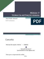 Módulo V -TEORIAS DA MOTIVAÇÃO
