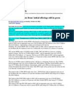 Latest News_Oct 20, 2008_Investments in State Firms Initial Offerings Still in Green
