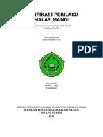 PERILAKU MALAS MANDI