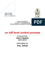 On Off Level Control Process