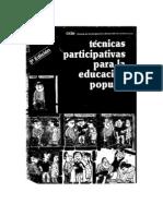 Bustillos, G. y Vargas, L. Técnicas participativas para la educación popular. CIDE Equipo Alforja (1984)