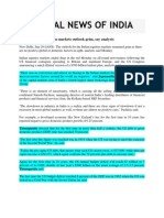 National News of India_Sept 29, 2008_No Positive Cues, Indian Markets Outlook Grim, Say Analysts
