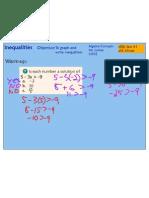 Graph Write Inequalities