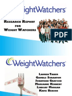 Weight Watchers Reseach
