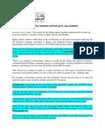 Samachaar_Sept 29, 2008_No Positive Cues, Indian Markets Outlook Grim, Say Analysts