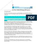 South Asia News_Oct 20, 2008_Investments in State Firms Initial Offerings Still in Green
