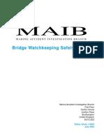 Bridge Watch Keeping Safety Study