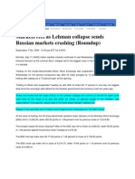 Thaindian_Sept 17, 2008_Markets Reel as Lehman Collapse Sends Russian Markets Crashing