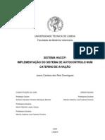 Sistema HACCP Implementação do Sistema de Autocontrolo num Catering de Aviação