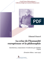 La crise de l'humanité européenne et la philosophie