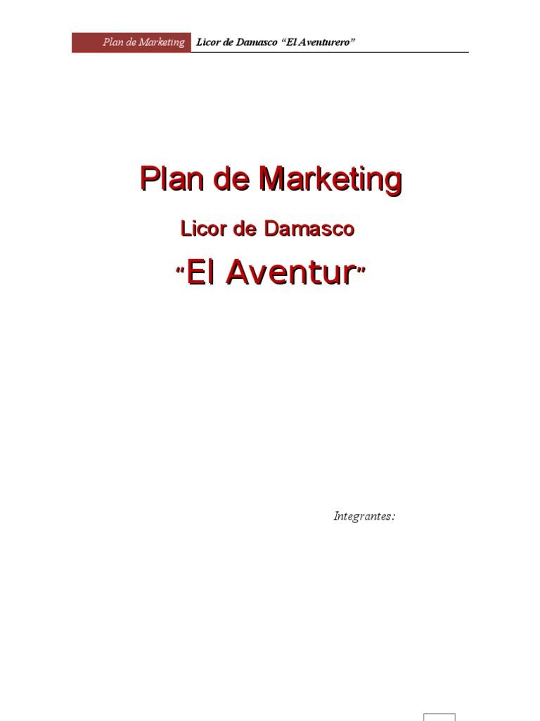 Plan de Marketing - Licor de Damasco