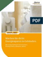 Machen Sie dicht - Energiesparen in Gebäuden