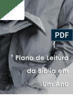 Plano de Leitura da Bíblia - 1 ano