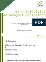 Reatividade e Seletividade das Reações Radicalares