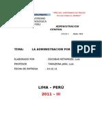 La Admin is Trac Ion Por Objetivos