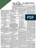 New Zealand Gazette 6 September 1839