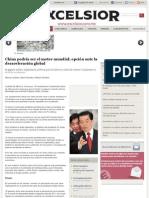 03-01-12 China podría ser el motor mundial; opción ante la desaceleración global