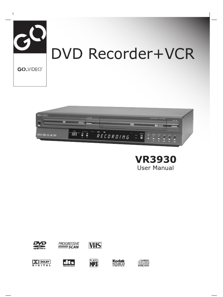 go video vr3930 user manual videocassette recorder dvd rh scribd com TV VCR Orion VCR