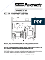 Coleman Powermate 5000 Generator Manual - Pm0525312.17