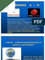 Estrategias de Internacionalizacion via Internet