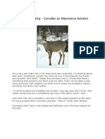 Winter Deer Feeding - Consider