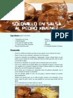 Solomillo de Cerdo en Salsa Al Pedro Ximenez