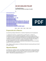 Metodologias de Analisis Foliar