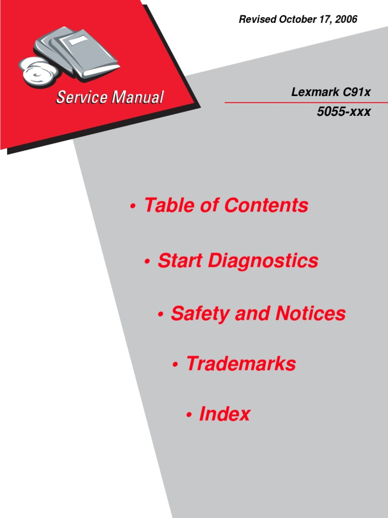 lexmark optra t printer service manual