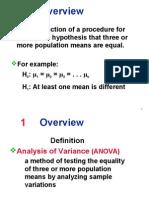 Anova1 - Statistic
