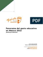Panorama Del Gasto Educativo 2012