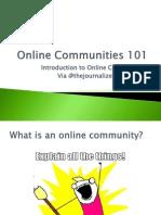 Online Communities 101 Introduction