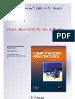 Paul C. Bressloff and Matthew A. Webber- Neural field model of binocular rivalry waves