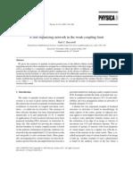 Paul C. Bressloff- A self-organizing network in the weak-coupling limit