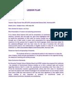 Lesson Plan of EVS Balance Diet by Vijay Heer
