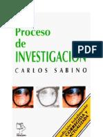 Carlos Sabino - El Proceso de Investigacion
