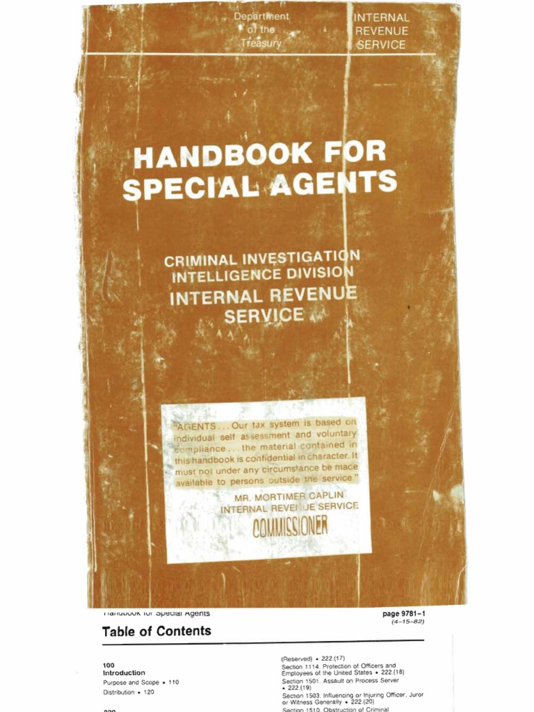 Irs secret cid handbook part 1 book search and seizure summons fandeluxe Gallery