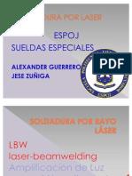 SOLDADURA POR RAYO LÁSER
