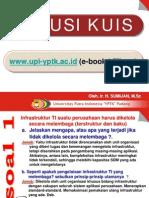 Jawaban Kuis Review Sistem Infrastruktur