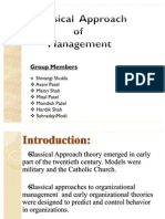 FM Mgt Theory and Classical Approach