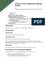 Config Register Use