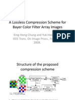 A Lossless Compression Scheme for Bayer Color Filter