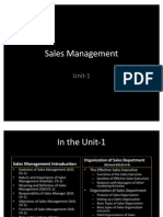 Sales Management Unit 1 Part 1