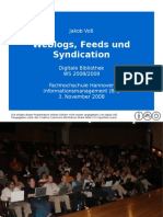 Weblogs, Feeds und Syndication