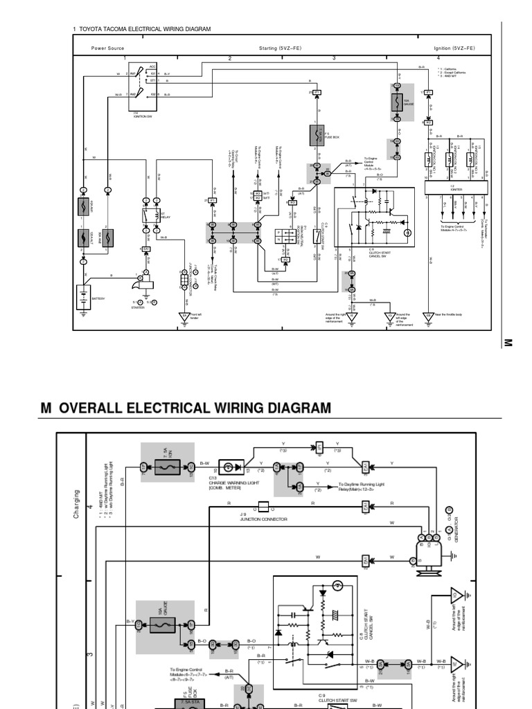 overall wiring diagram | fuel injection | throttle toyota kzn185 wiring diagram toyota 2l-te engine wiring diagram scribd
